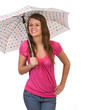 teenager holding umbrella