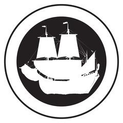 Emblem of an old ship 2