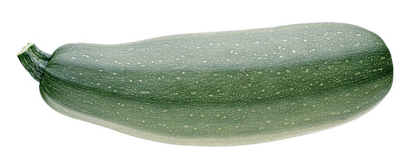 vegetable marrow on white background