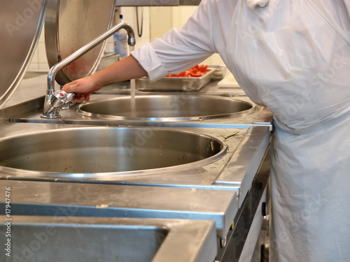 Leinwandbild Motiv kitchen hygiene