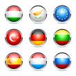 icônes drapeau pays