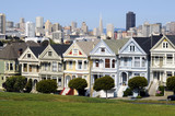 Historical victorian houses of famous Alamo Square poster
