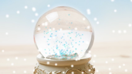 Ornament snow globe with falling snow