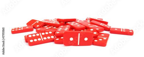 Dominos or dominoes red