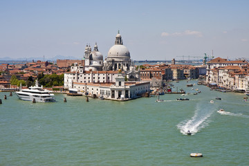 Police Boat Coming out of the Grand Canal