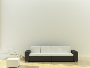 black white sofa