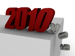 2010 coming, pushing 2009 over the edge - 3D image