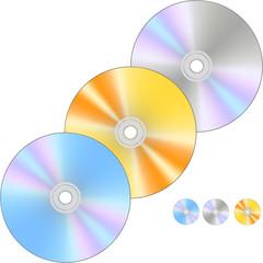 Three cd/dvd discs VECTOR