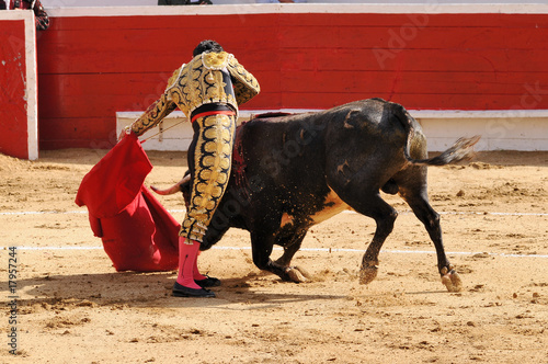 Leinwanddruck Bild Matador & Bull