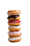 Fototapety Stack of donuts on a white background
