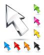 icône flèche, curseur de souris