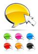 icônes bulles de conversation et curseur de souris