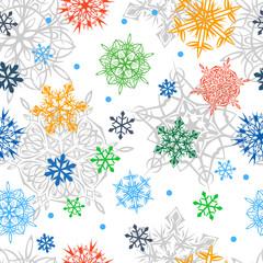 Christmass Seamless Snowflake Pattern