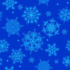 Christmass Seamless Blue Pattern