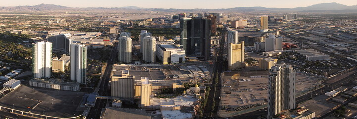 panoramic view of las vegas from the top