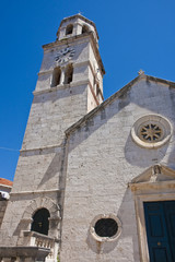 Clock Tower on Old Stone Church