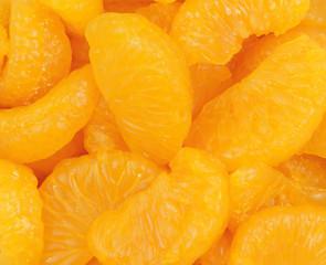 Close view mandarin slices