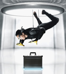Pacific Islander female spy suspended over briefcase