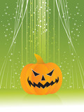 twinkle star background with isolated pumpkin poster