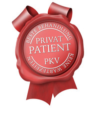 siegel button privatpatient pkv private krankenversicherung