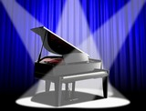 spotlight-grand piano