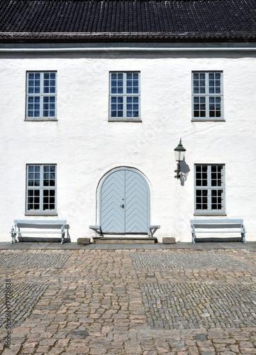 Poster Norwegian house in Bergen