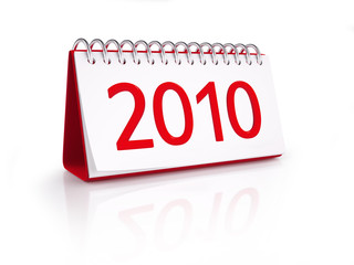 Calendar with date of New Year 2010