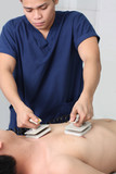 male nurse resuscitating a patient poster