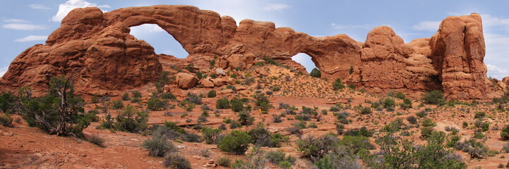 twin arches at arches national park