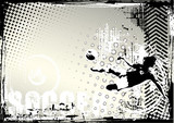 soccer grungy background