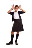 Mocking schoolgirl poster