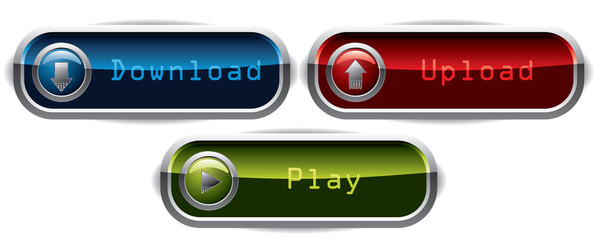 Upload, Download & Play wide buttons
