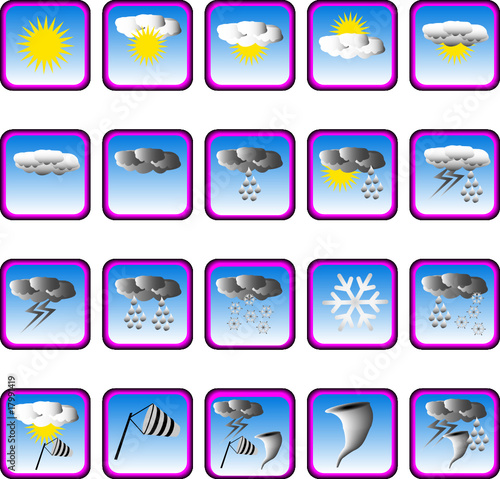 weather forecast icons. Weather forecast icon