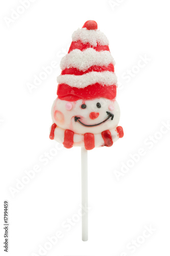 Christmas lollipop isolated