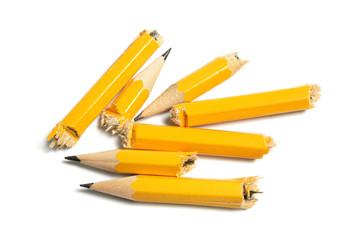 Broken Pencil Pieces