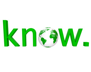 Know - Green Word and Earth