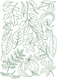 Leaves doodles poster
