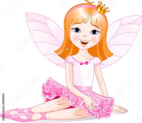 Foto op Aluminium Kasteel Little fairy ballerina