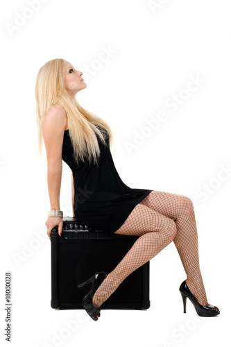 beautiful blonde with amp