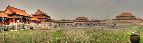 Foto op Aluminium Beijing Awesome Forbidden City in Beijing (Peking) (Panorama)