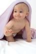bébé sous couverture