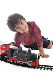 Train toy, present for children