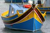 Maltese Luzzu fishing boat poster