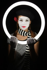 Portrait of mime