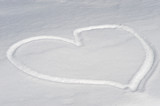 Heart shape in snow