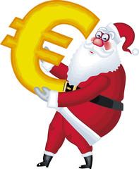 Santa Claus with Euro symbol