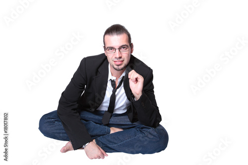 happy young casual man portrait