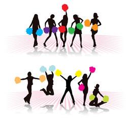 Cheerleader girls group