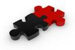 Puzzle Schwarz Rot