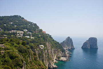 Houses on Capri Hillside